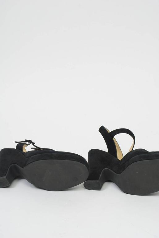Dolce & Gabbana Black Suede Platform Shoes 5