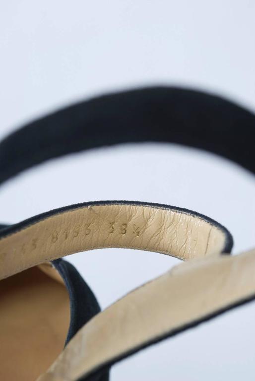Dolce & Gabbana Black Suede Platform Shoes 8
