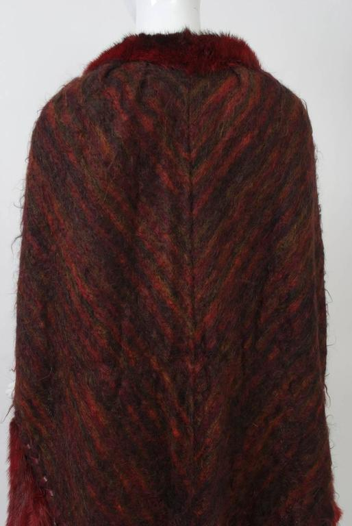 Fur-Trimmed Mohair Shawl For Sale 1
