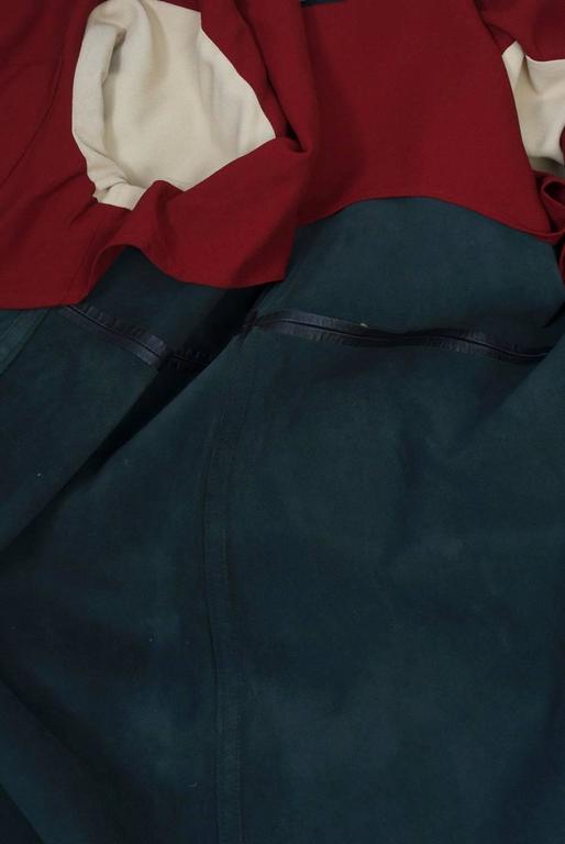 Gaultier Black Leather Coat For Sale 5