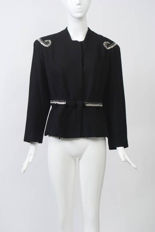Women's 1940s Silver-Studded Jacket For Sale