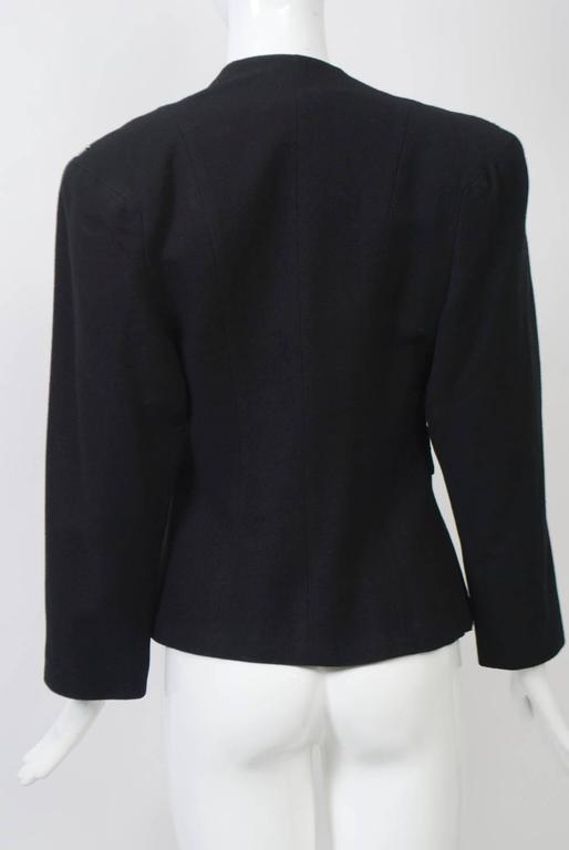 Black 1940s Silver-Studded Jacket For Sale