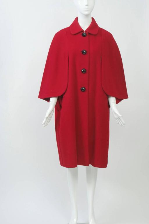 Women's Adolfo Red Cape Coat For Sale