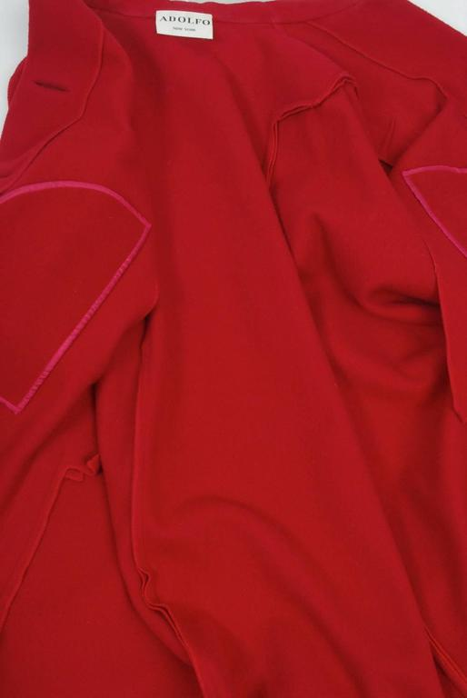 Adolfo Red Cape Coat For Sale 3