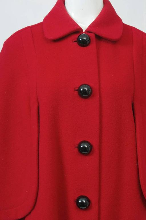 Adolfo Red Cape Coat For Sale 2