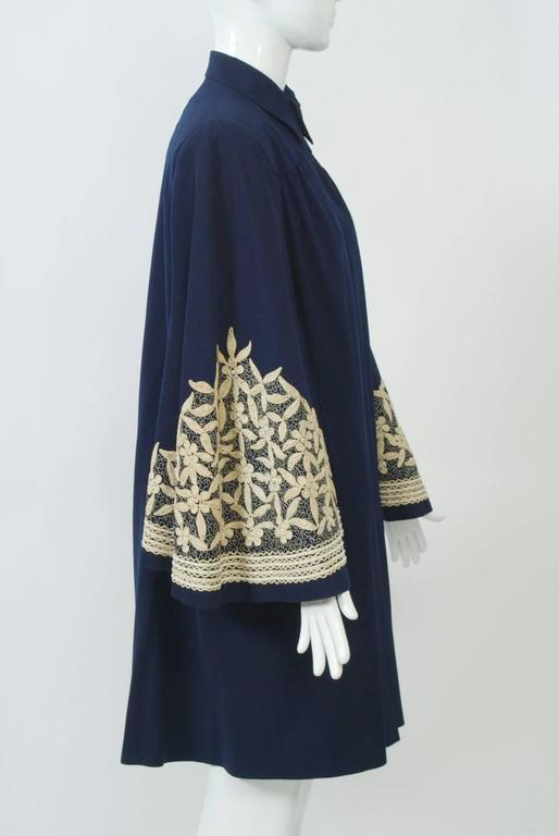 1940s Embroidered Coat In Good Condition For Sale In Alford, MA