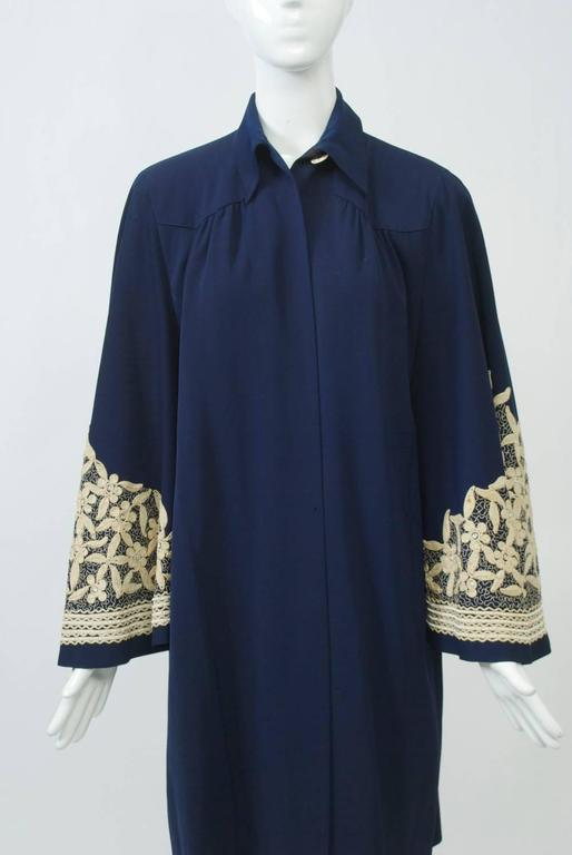 Women's 1940s Embroidered Coat For Sale