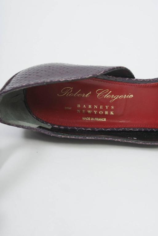 Clergerie Plum Snake Platform Shoes For Sale 4