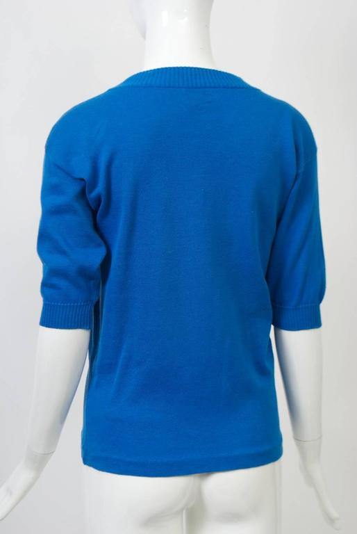 Chanel Blue Pullover In Excellent Condition For Sale In Alford, MA