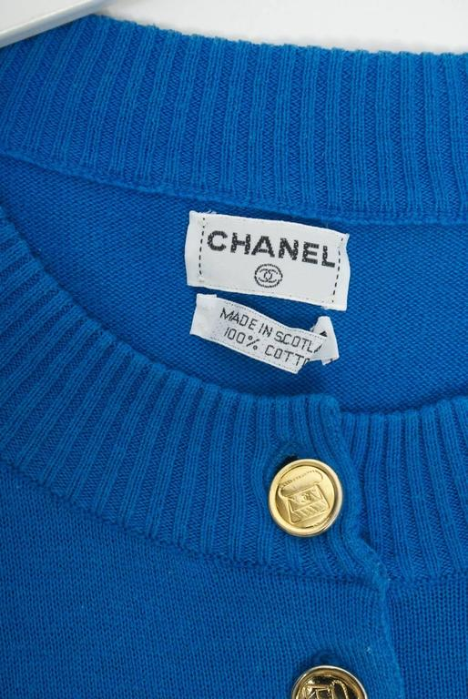 Chanel Blue Pullover For Sale 1