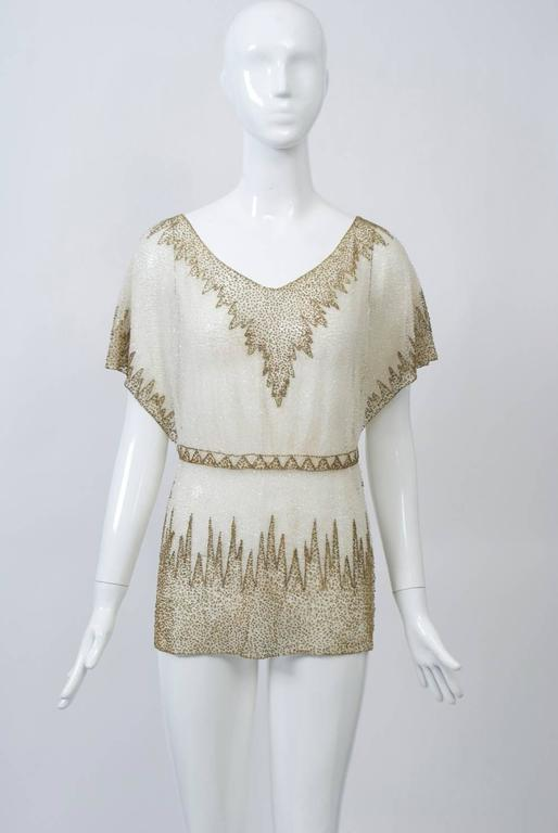 Crystal Beaded Art Deco Tunic 3