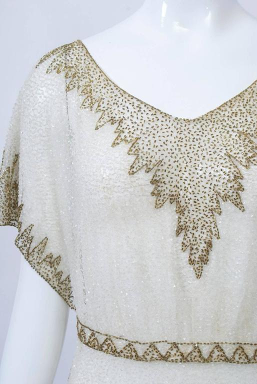 Crystal Beaded Art Deco Tunic 8