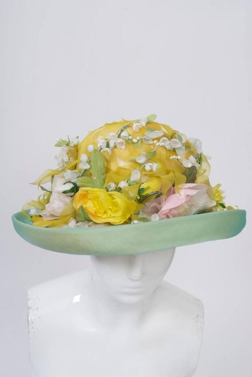 Dior Straw Hat with Flowers 2