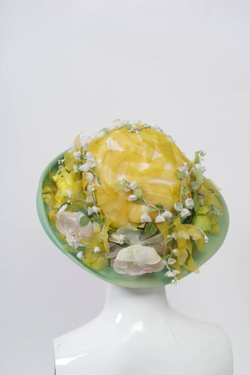 Dior Straw Hat with Flowers 4