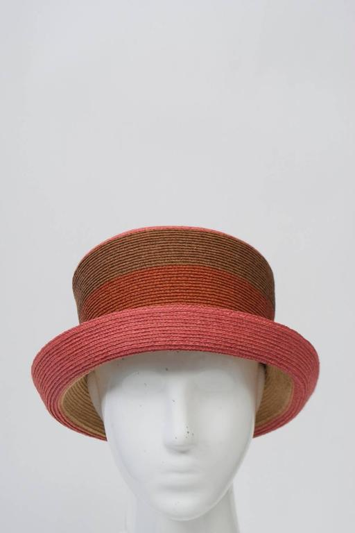 Brown Annabel Ingall Straw Hat For Sale