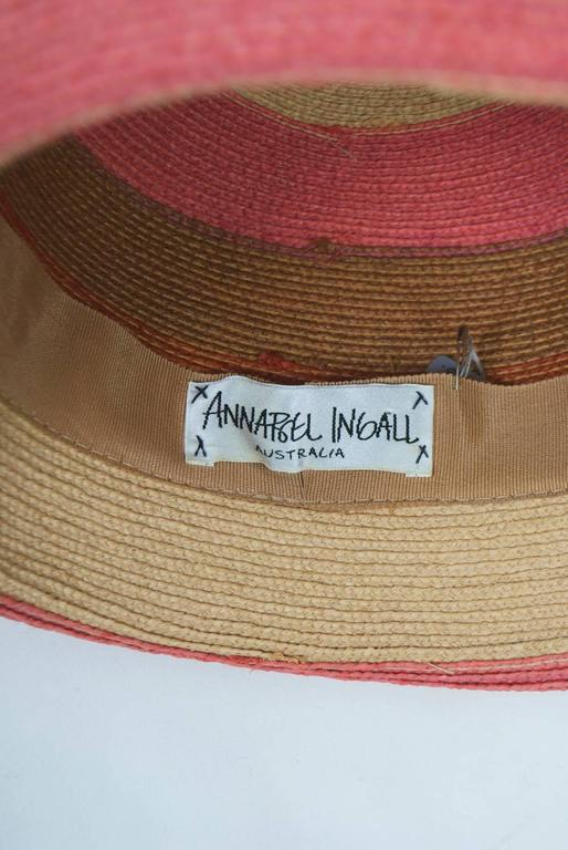 Annabel Ingall Straw Hat For Sale 2