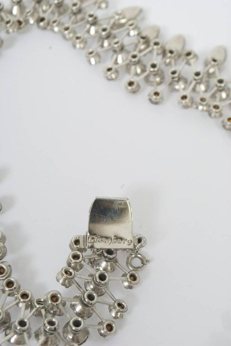Eisenberg Rhinestone Necklace For Sale at 1stdibs
