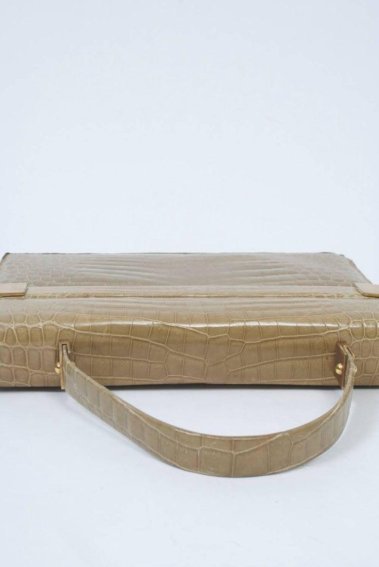 1960s Crocodile Handbag For Sale 1