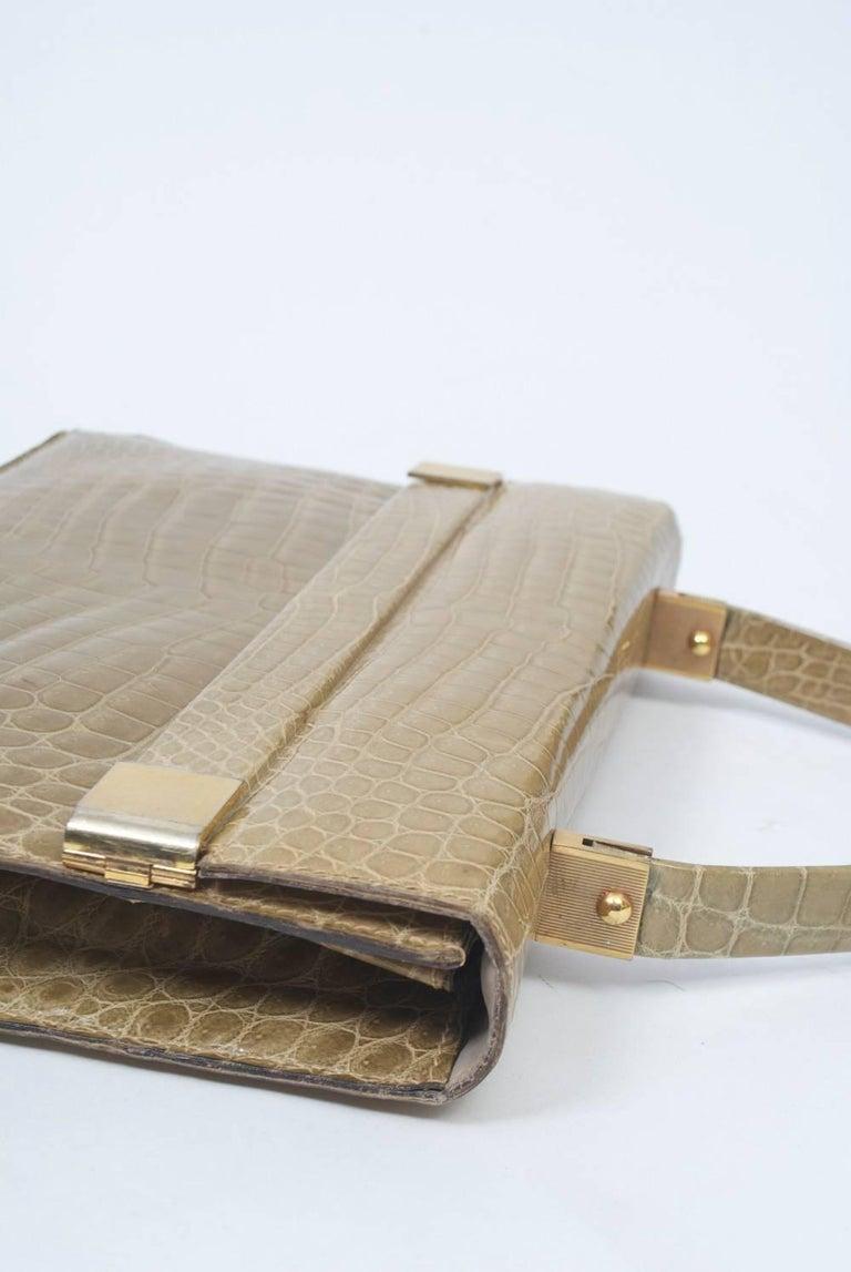 1960s Crocodile Handbag For Sale 2