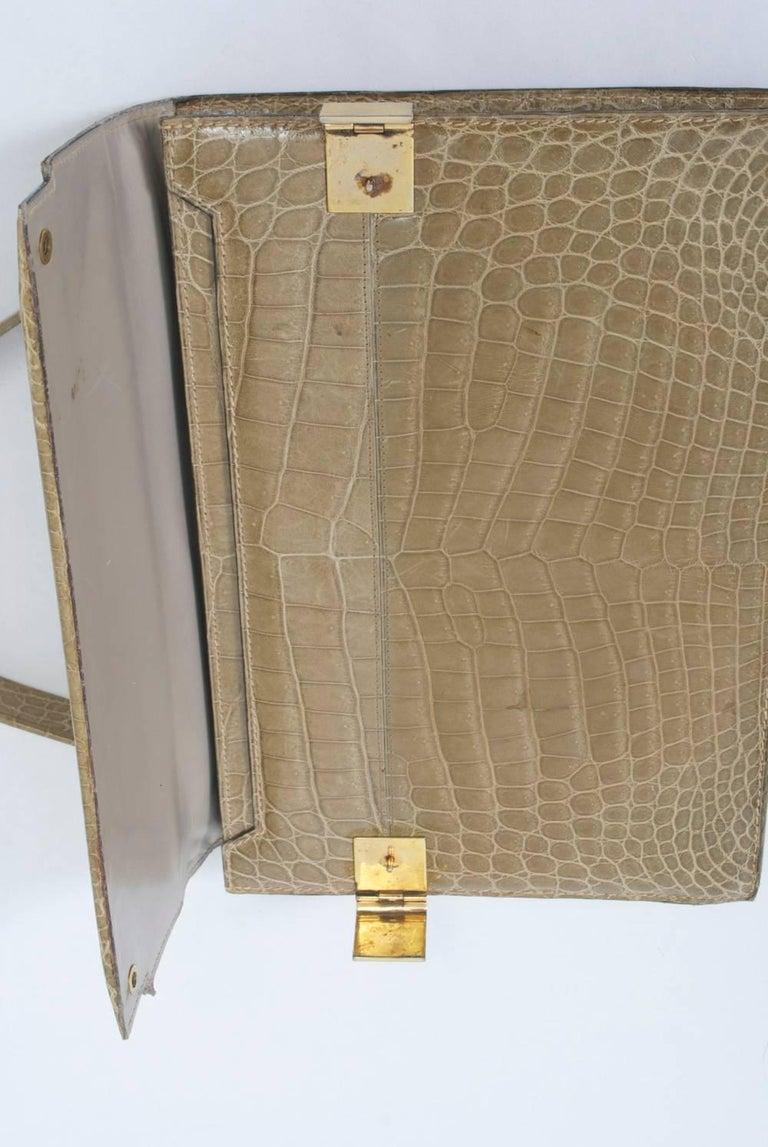 1960s Crocodile Handbag For Sale 3
