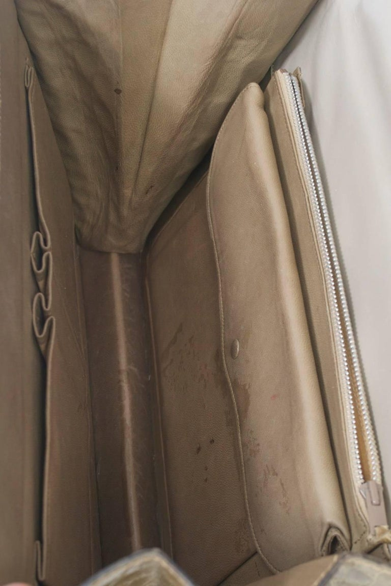 1960s Crocodile Handbag For Sale 5