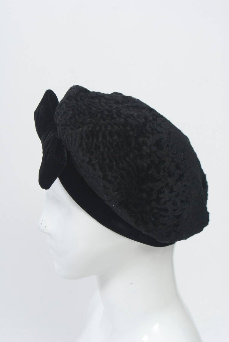 Gray Broadtail Beret For Sale