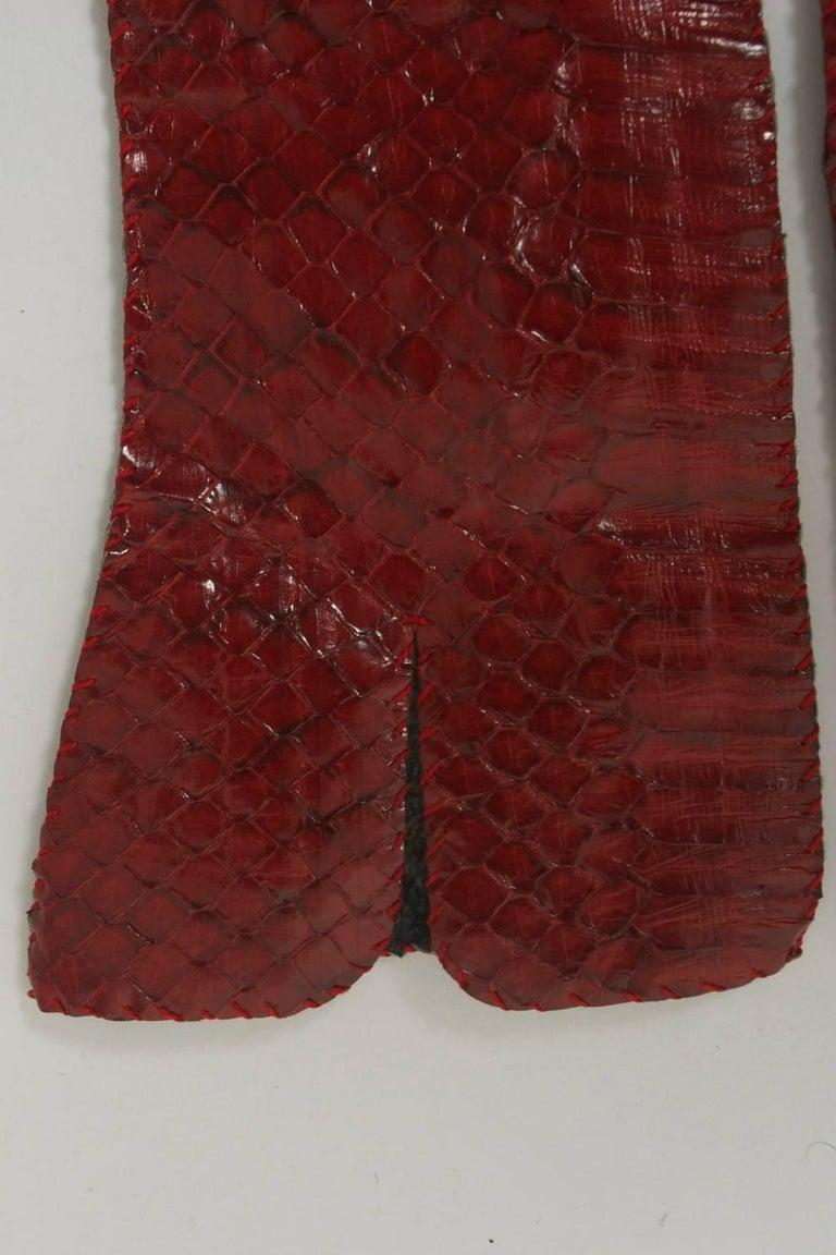 Red Snakeskin Gloves For Sale 1
