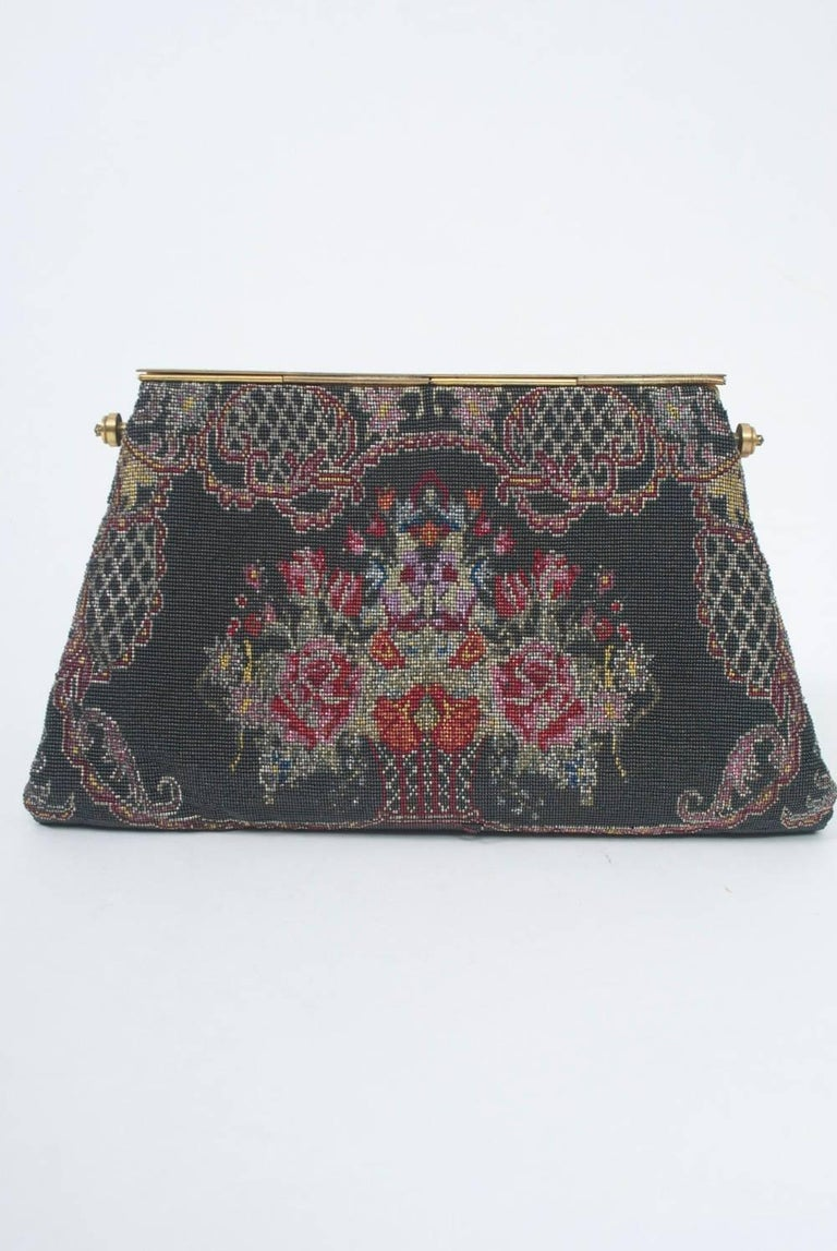 Floral Microbeaded Evening Bag For Sale 1