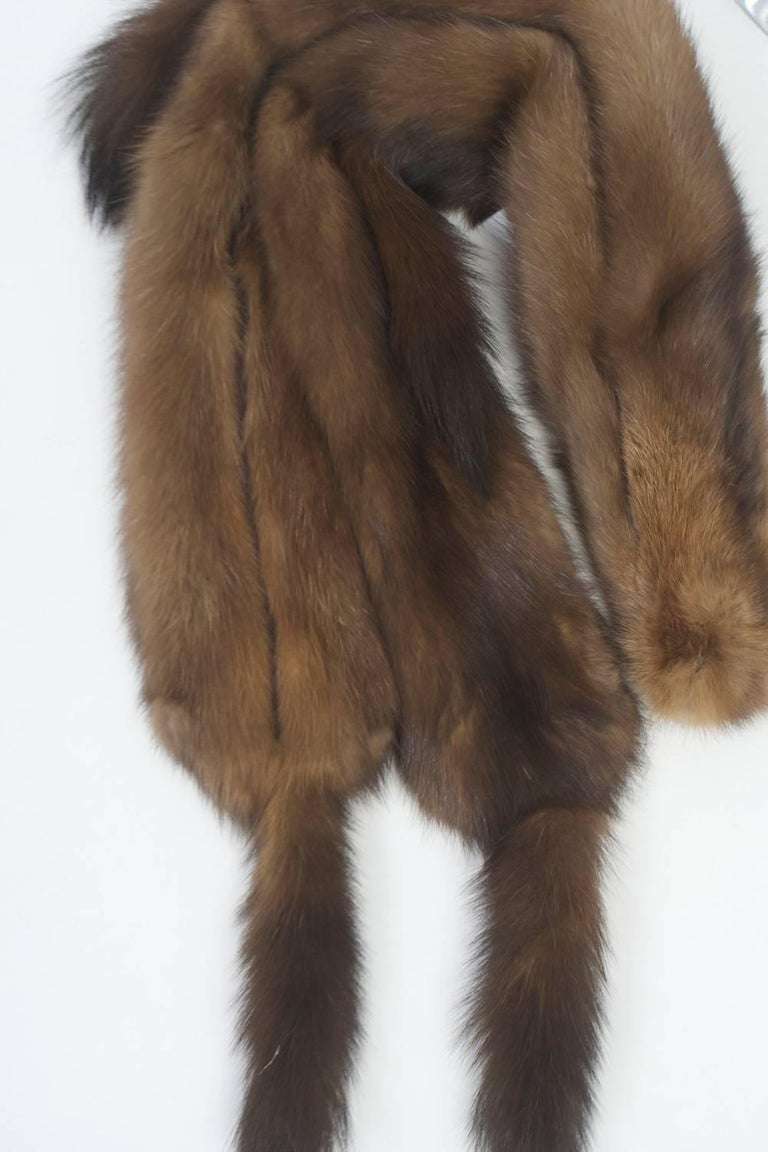 Women's Long Sable Scarf For Sale