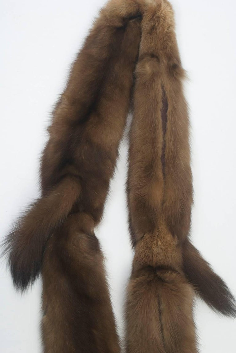 Long Sable Scarf For Sale 1