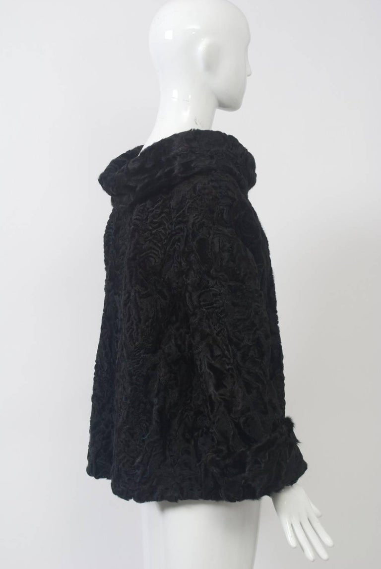 Black Broadtail Tunic In New Condition For Sale In Alford, MA
