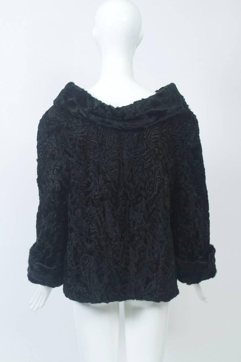 Women's Black Broadtail Tunic For Sale