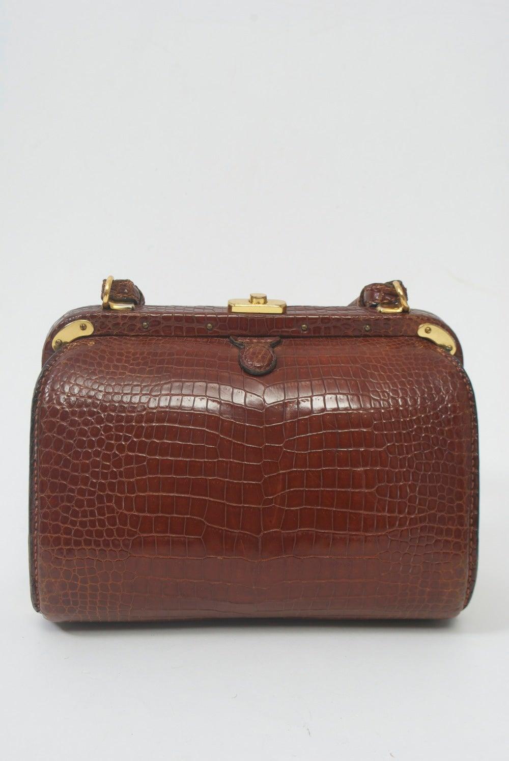 1stdibs Golden Brown Alligator-skin Sectional Handbag owkDXp9Z