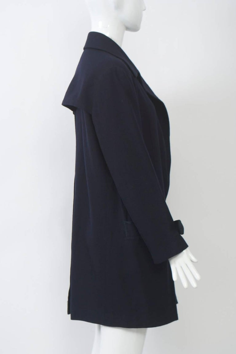 Yohji Yamamoto Navy Jacket In Excellent Condition For Sale In Alford, MA