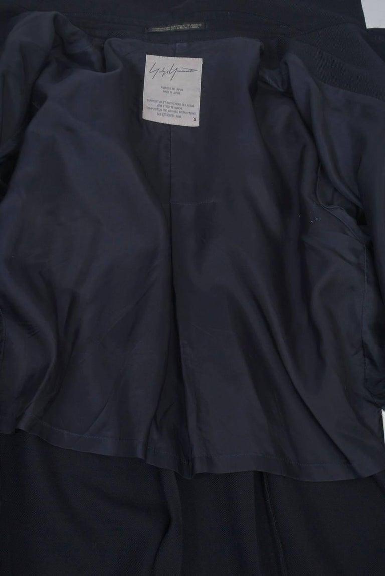 Yohji Yamamoto Navy Jacket For Sale 2