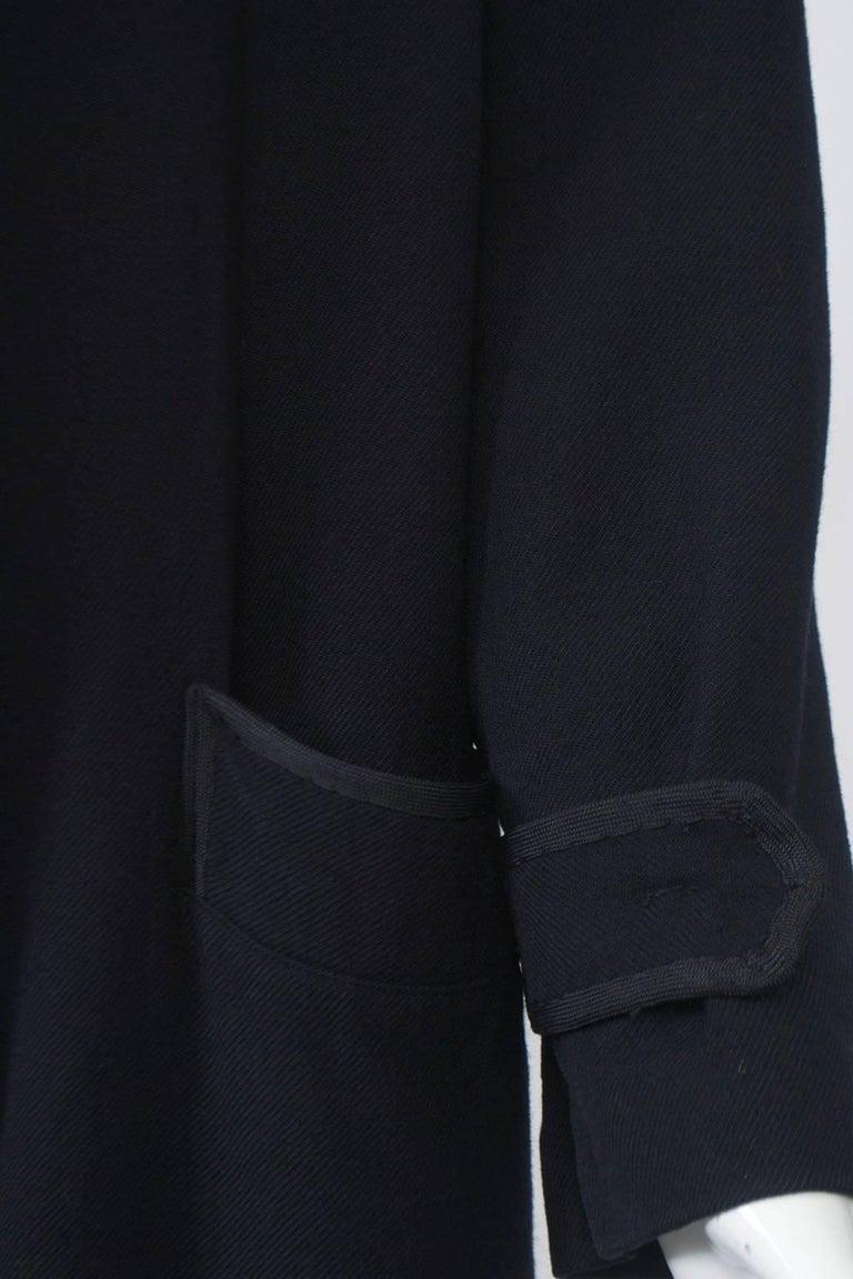 Black Yohji Yamamoto Navy Jacket For Sale