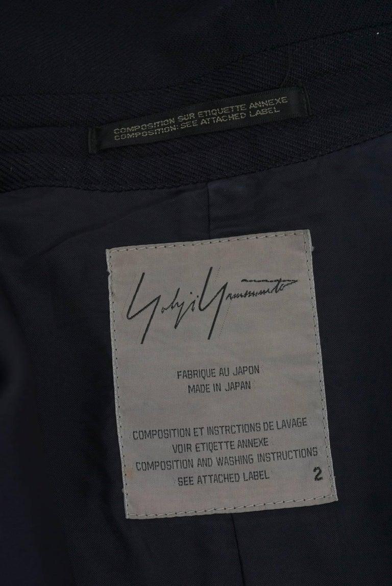 Yohji Yamamoto Navy Jacket For Sale 3
