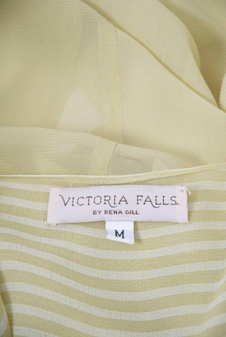 Victoria Falls Sheer Beige Midi Dress and Slip For Sale 4