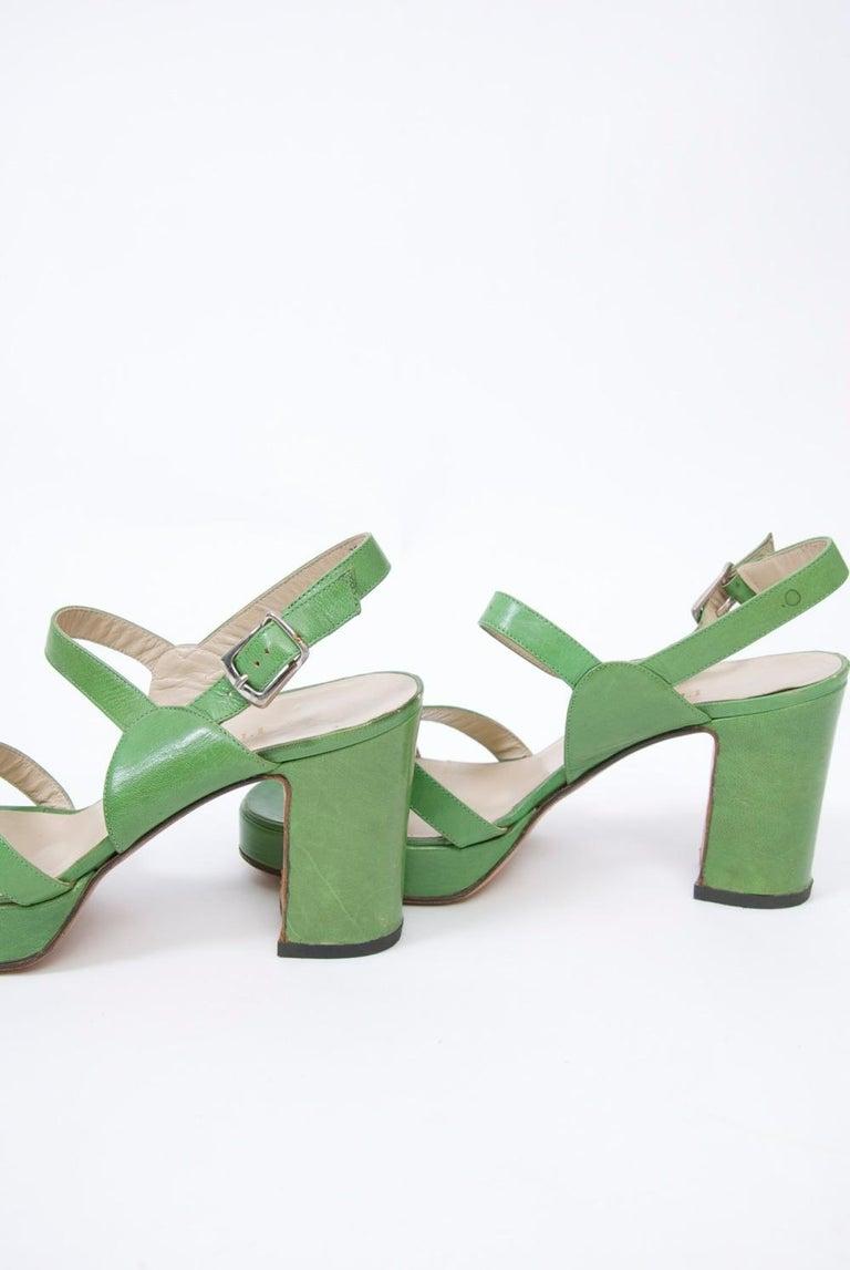 2cb1c5ccf1de 1970s Bruno Magli Platform Sandals For Sale at 1stdibs