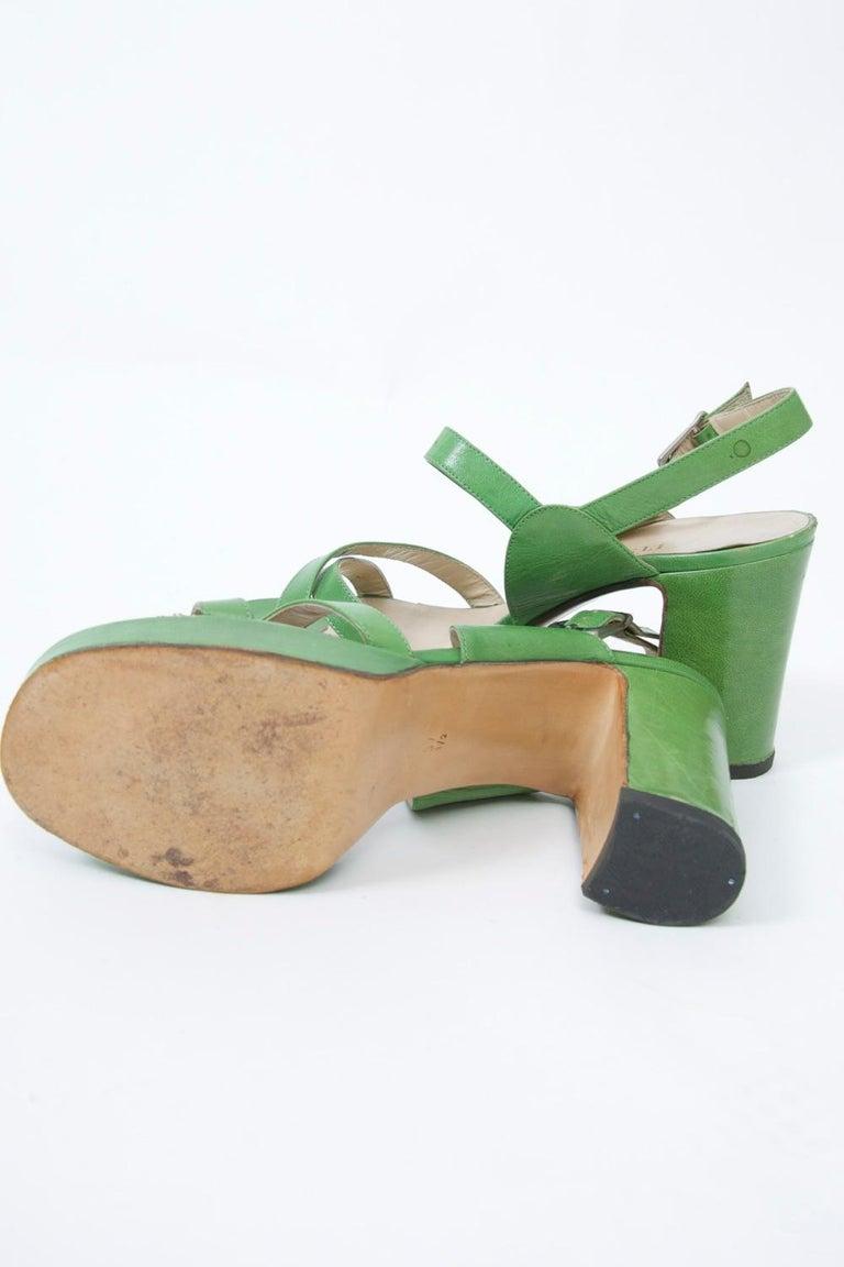 1970s Bruno Magli Platform Sandals For Sale 1
