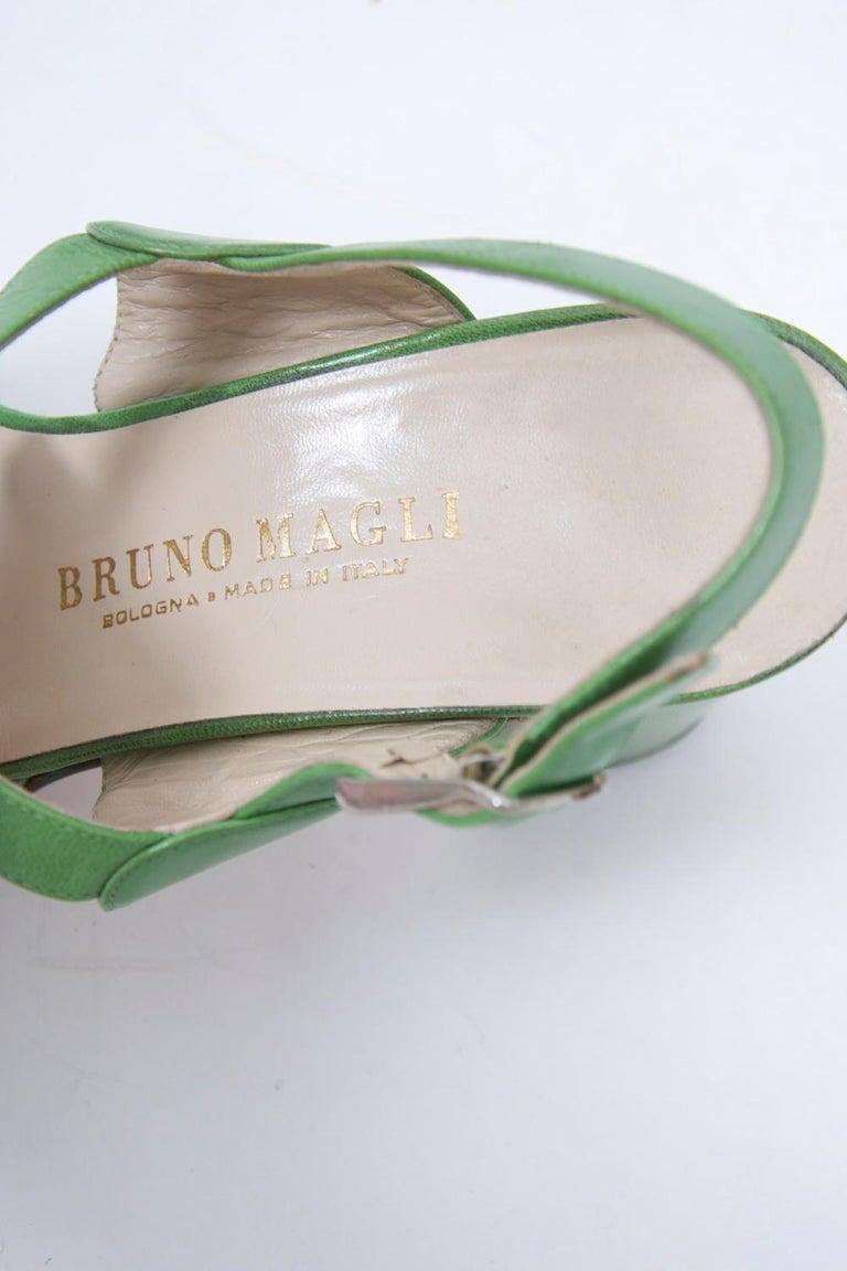 1970s Bruno Magli Platform Sandals For Sale 2