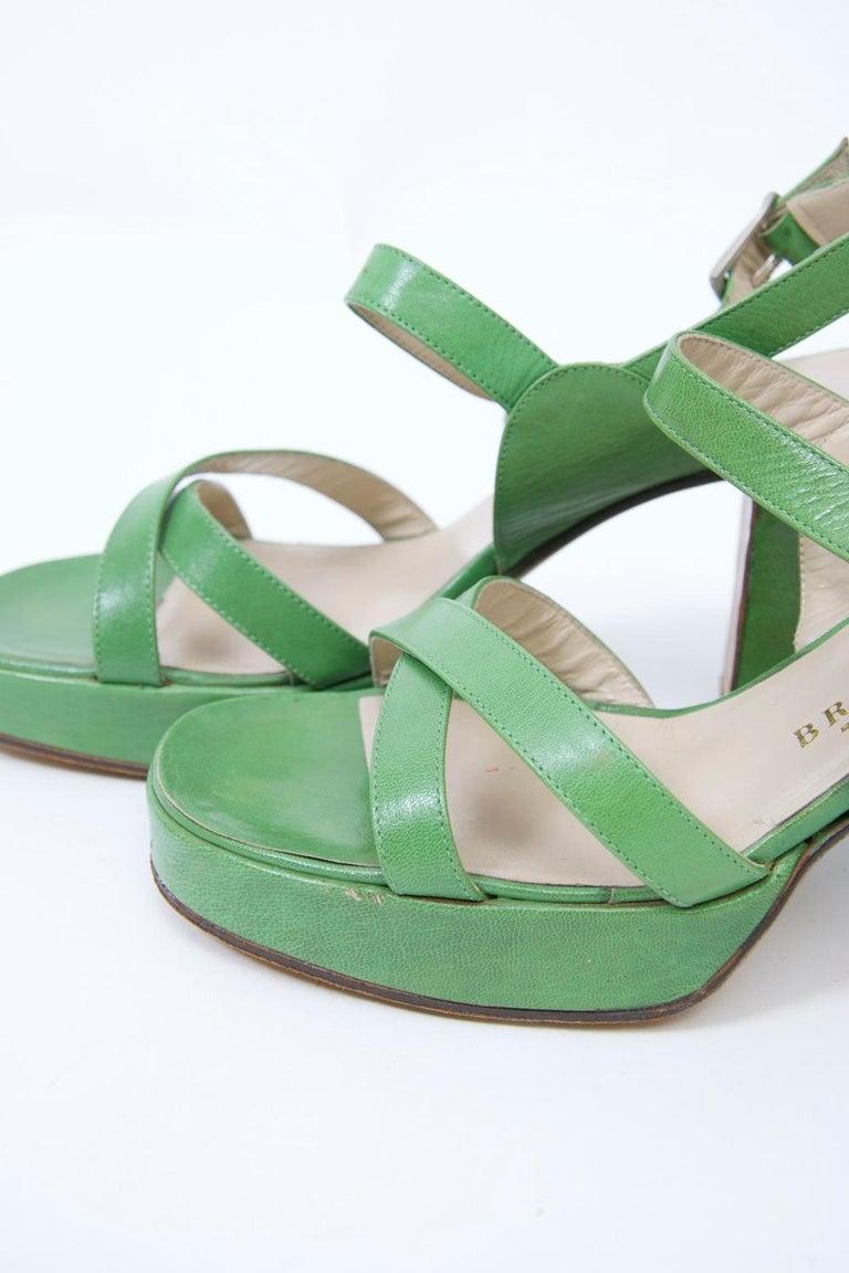 1970s Bruno Magli Platform Sandals For Sale 3