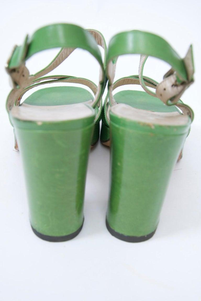 1970s Bruno Magli Platform Sandals For Sale 4