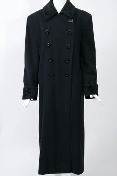 Dior Black 1980s Coat