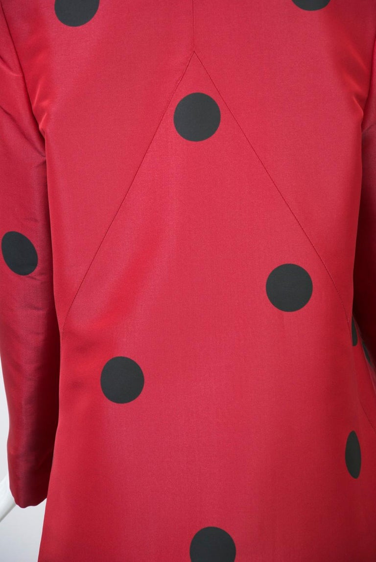 Geoffrey Beene Red and Black Silk Suit For Sale 3