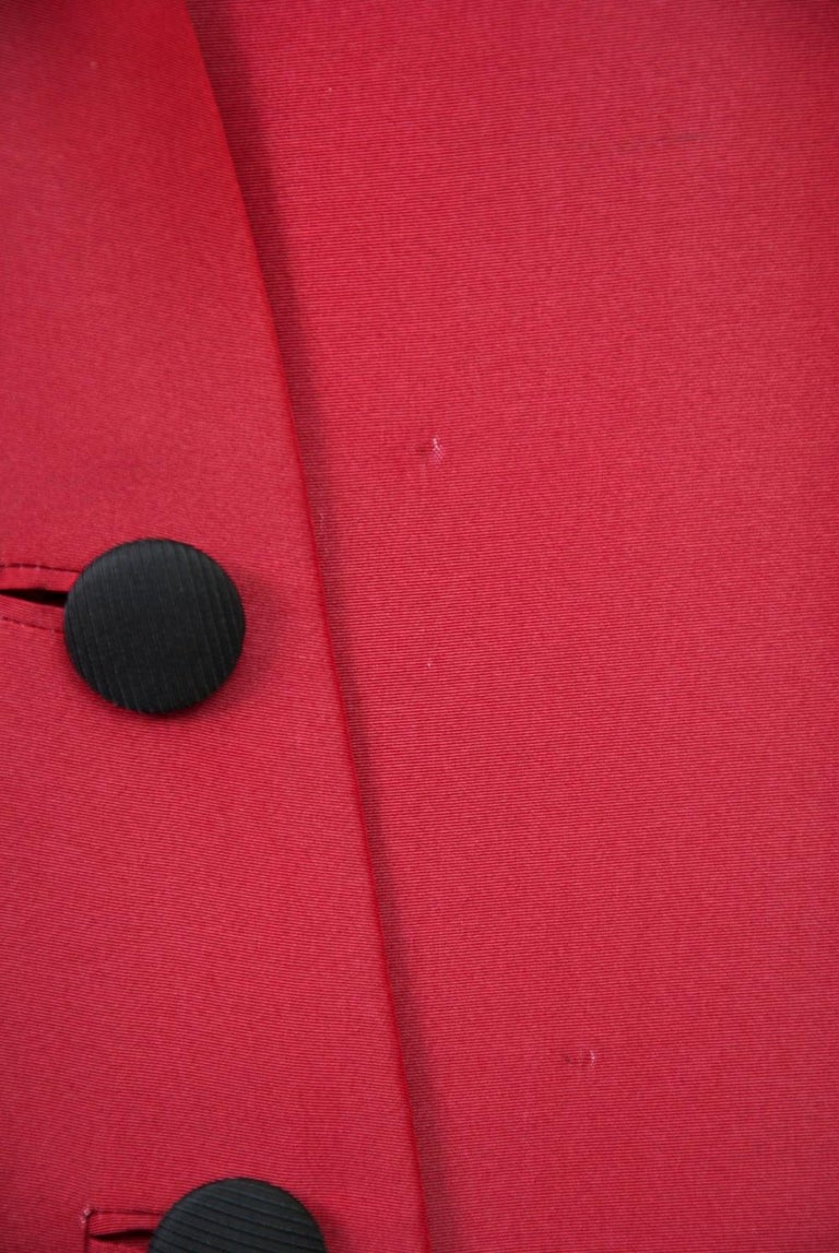 Geoffrey Beene Red and Black Silk Suit For Sale 4
