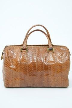 Morris Moskowitz Cognac Snake Bag