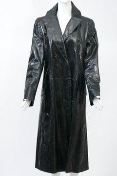 Genny Snakeskin Coat