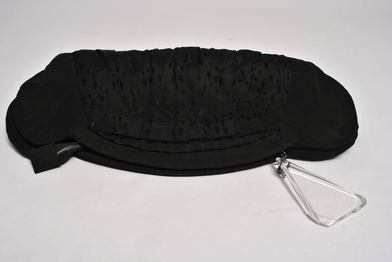 1940s Large Faille Clutch with Gloves 5