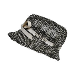 Lilly Dache Black and White Straw Hat
